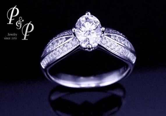 Diamond ring 0.42 carat 