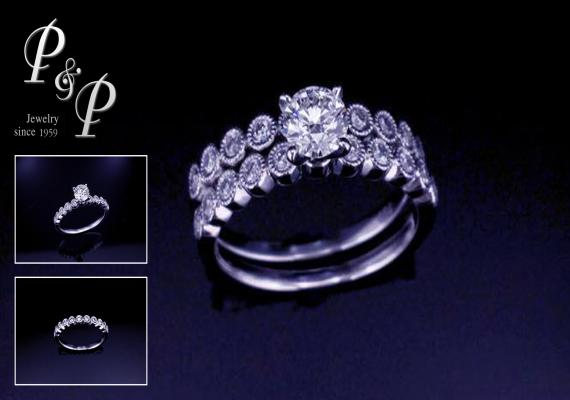 1.Diamond ring 0.46 carat H color VS1