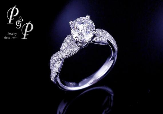 Diamond ring 1.16 carat H color VVS1 GIA Certified Triple Excellent 3EX 