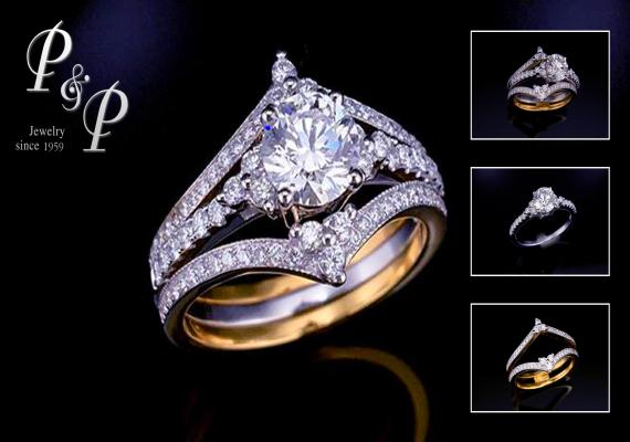 Diamond ring 0.71 carat F color VS1