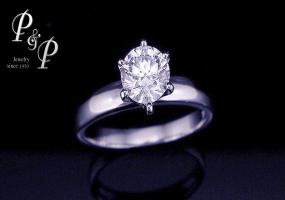 Diamond ring 0.71 carat 