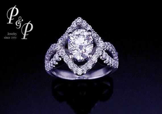 Diamond ring 0.74 carat G color VVS1 